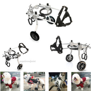 Wholesale New !!! Small   Medium   Large Size Light Aluminum Alloy Pet Dog Wheelchair for Handicapped Hind Legs walk