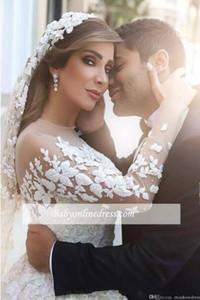 2018 Maßgeschneiderte lange Brautschleier Applique Perlen Sweep Länge Brautschleier Passend zum Brautkleid
