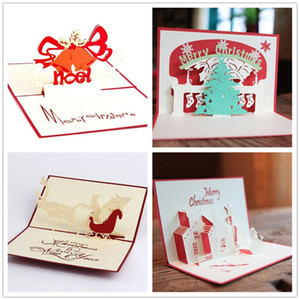 Handmade Kirigami & Origami 3D Pop UP Card Creative Merry Christmas Gift&Greeting Cards Y132