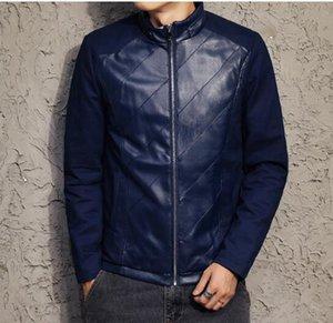Homens caem Europeu tendência americana moda individual caráter han edição novos bens de alta qualidade bonito splice coat / M-3XL