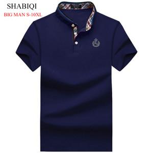2018 SHABIQI PLUS SIZE Men's Regular Slim Lapel Embroidered  Shirts cotton men casual tops BIG MAN shirts 7XL 8XL 9XL