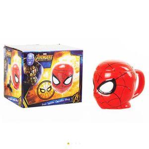 Vengador 3D hombre Taza de la araña hombre de hierro de superhéroes taza preciosa tazas de leche super café de cerámica Chivalrous Copa