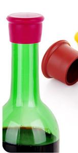 Tappi di vino in silicone 2000pcs sigillanti di bottiglia di vino senza perdite per vino rosso e tappo di bottiglia di birra DHL Fedex Spedizione gratuita