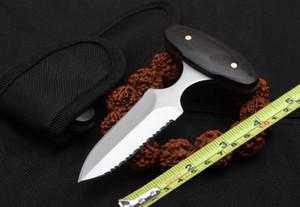 Mango de madera clásico cuchillo de empuje cuchillo de caza al aire libre autodefensa cuchillo táctico al aire libre envío