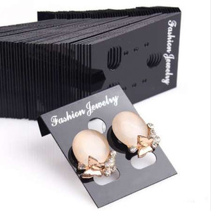 100pcs !!Professional Plastic Earring Ear Studs Holder Display Hang Cards Black Jewelry Stores Necessities EAR-0276