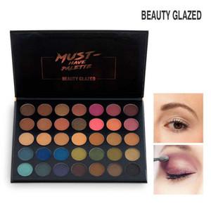 Beauty Glazed 35 Color Matte Eyeshadow Pallete Shine Nude Glitter Dare لإنشاء ظلال العيون من السهل على ارتداء Pop Eyeshadow Makeup