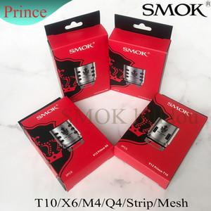 Bobines de rechange authentiques SMOK TFV12 Prince Q4 0.4ohm X6 0.15ohm T10 0.12ohm M4 0.17ohm Bobine de remplacement TFV12 Prince Head