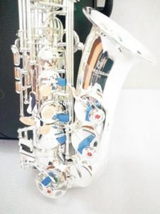 Alta calidad Japón Alto Yanagisawa W-037 Eb Altavoz plateado alto YANAGISAWA saxofón Instrumento musical profesional rendimiento gratuito
