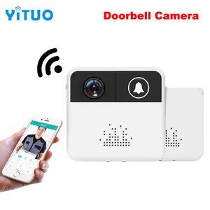 Кольцо Ночного Видения Колокол Беспроводной Wi-Fi Видеодомофон Дверной Звонок Открытый Видеомонитор 720 P IP-Камера Двухстороннее Аудио Зритель Глазок YITUO