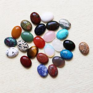 Encantos del pendiente oval natural al por mayor de alta calidad del envío de piedra en forma de lágrima que hace DIY Beads CABOCHON gratuito para las mujeres CAB joyería 15 * 20mm Htvx