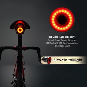 Bicicleta Luz Traseira XLITE100 Inteligente LEVOU Lâmpada de Travagem Luz de Ciclismo USB de Carregamento Visual de Segurança Aviso Lanterna Bicicleta Criativa Taill