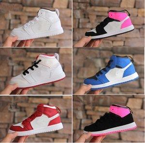 2018 Nouveaux styles Chaussures de basket pour enfants Kids j 1s OG Sneakers Top Qualité Sport Basketball Sneakers Taille 26-35