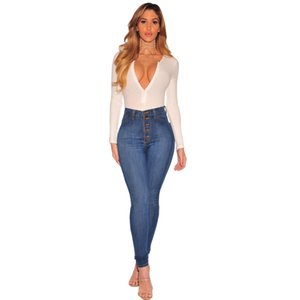 High Quality REAL PHOTOS Sexy Skinny Hole Jeans Womens Push up High Waisted Slim Fit Denim Pants Slim Denim Skinny Ripped Jeans