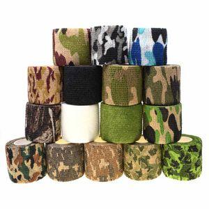 1 Roll U Pick 4.5m * 5cm Impermeable Camo al aire libre Senderismo Camping Caza Camuflaje Stealth Tape Wraps