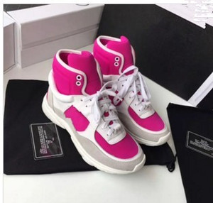 2018 новых ботинок европейского станции случайных Мартин сапог цвета плоская корейская версия упругих женщины сапоги прилив 01031