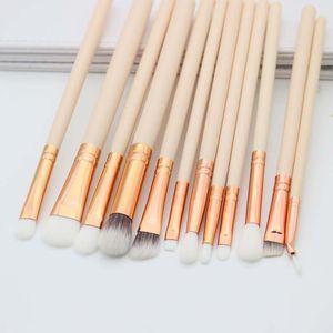 Kozmetik Makyaj Fırçalar Set Vakfı Göz Farı Eyeliner Dudak Oval Makyaj Göz Fırça Seti Mini 12 adet maquiagem