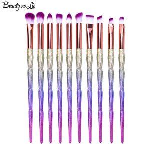 Радуга 10 шт Профессиональные кисти для макияжа Набор красоты Косметика Eyeshadow губы Powder Face Pincel Наборы инструментов Кисть