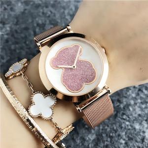 سوار وردي فاخر للسيدات ساعة كاجوال ماركة ساعات نسائية ذهبية رفيعة رقيقة جداً مصممة للنساء ساعات كوارتز ساعة جديدة reloj موهير