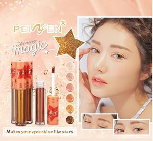 PNF новый 6 цветов длительный макияж водонепроницаемый перламутровый блестящий портативный профессиональная косметика тени для век лайнер сочетание