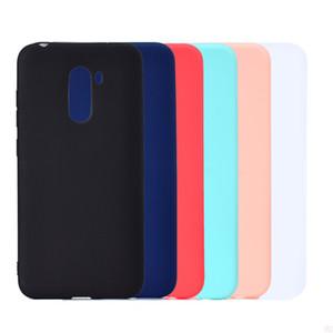 Cubierta del color del caramelo para Xiaomi POCOPHONE F1 Case Soft TPU ultrafino diseñador Mobie cajas del teléfono Capinha para Xiaomi Mi F1