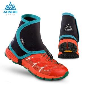 AONIJIE Baixo Trail Running polainas de protecção envoltório de sapato cobre par para Homens Mulheres Outdoor evitar que areia de pedra