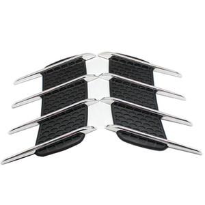 2 Шт. Air Shark Gills Стайлинга Автомобилей 3D Vent Air Flow Fender Хром Сплав Металла Наклейка Наклейка Автомобиль Грузовик Пользовательские Наклейки Универсальные