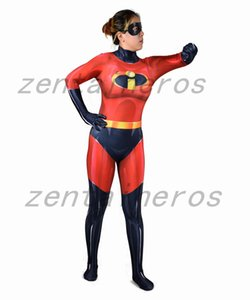 3D stampato Red Elastigirl Supereroe Cosplay Bambini Costume adulto Tuta Suit Tute di Halloween Party