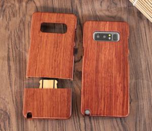 Caja única del teléfono textura de madera para la nota 8 note8 borde S9 S8 Plus S7 S6 personalizada de bambú de madera cubierta posterior del teléfono celular Casos