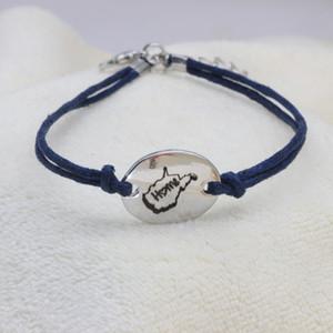 Customized WV Home Bracelet adjustable Bracelet Dark Blue Rope for Men and Women Gift Drop shipping YP0066