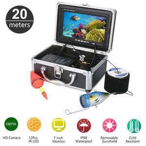 20M 1000TVL HD CAM 7inch مونيتور السمك مكتشف الصيد تحت الماء كاميرا فيديو كيت