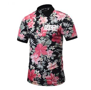 الأزهار المطبوعة قميص الصيف هاواي مهنة موضة قمصان الرجل نمط جديد عادية