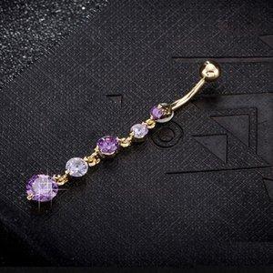 Women belly rings stainless steel europen new zircon sexy piercing belly button rings body jewelry
