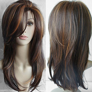 ZF 2018 New Wig Making Cap Cap all'ingrosso 20inch Wig Mix Brown ricci Mix Colore naturale