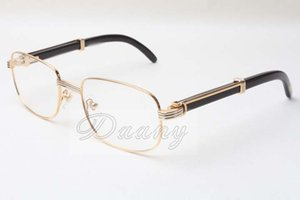 Óculos novos quadrados naturais de alto-falante preto 7381148 homens e mulheres óculos, podem ser equipados com lentes de miopia, tamanho dos óculos: 56-21-135MM,