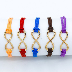 Infinity Bracelets Croix Bracelets en cuir pour femmes hommes cadeau Hot européenne Bangles Bijoux pour hommes Punk Vintage Infinity 8 Cadeau de Noël