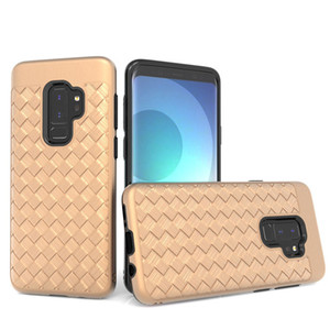 For Samsung Galaxy J3 Emerge J7 prime 2017 J3 2018 J7 2018 For Hybrid slim Case Protective Weave pattern case