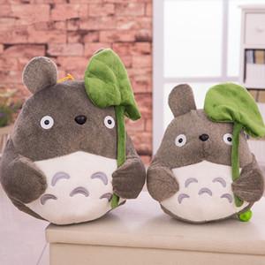 20 centímetros Adorável Meu Vizinho Totoro TV Movie Character Plush Toy bonito Macio Boneca Totoro com LA038 Lotus Folha Kids Brinquedos Cat Decoração do presente
