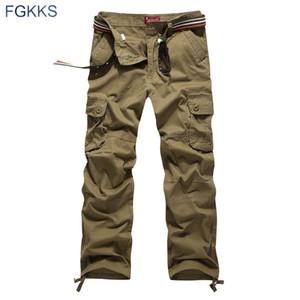 2017 Recién Llegado de Alta Calidad Estilo de Primavera Ropa de Moda Superior Sólido Hombres Pantalones de Carga de Algodón Hombres Pantalones Joggers Más Tamaño Y1892801