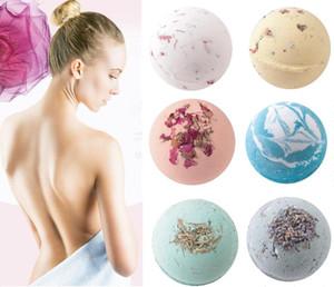 5PCS LOT 6odor Rose Green tea Lavender Lemon Milk Deep Sea Salt Bath Ball Essential Oil Bath Ball Natural Bubble Bath Bombs Ball