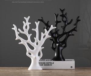 Céramique Happy tree Home Decor artisanat chambre décoration artisanat ornement figurines en porcelaine de Noël articles de décoration cadeau