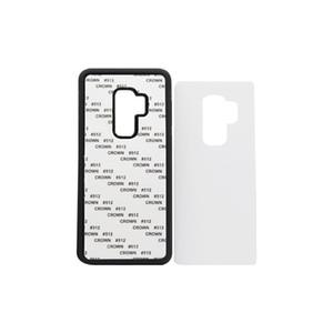 50 unités de gros pour caoutchouc Samsung S9 TPU cas 2D de sublimation pour Samsung S9 S9, plus le cas avec la tôle d'aluminium