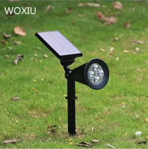 WOXIU Güneş Çim Işık 4LED Güneş Enerjili Spot Işık Ev Bahçe Duvar Peyzaj Aydınlatma Sensörü Işık