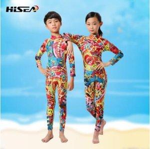 de manga larga de color de una sola pieza de los niños wetsuit ropa ropa de las medusas de surf natación ropa de abrigo protector solar