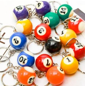 free shipping wholesale 1440pcs number ball keychain keyring party Favor Gifts