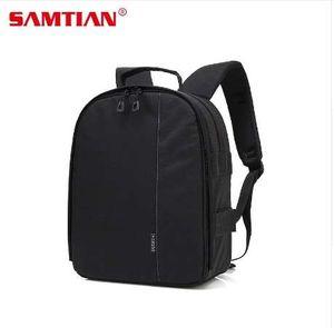 SAMTIAN mochila cámara impermeable Digital DSLR cámara Video Bag w / lluvia cubierta multifuncional cámara Soft Bag video case