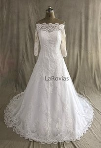 Real Photo Wedding Dress with Sleeves Bridal Gown Bride Wear Dress For Bride