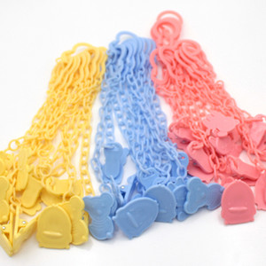 New Cartoon Plastic 3 Colors New Baby Ciuccio Clip Ciuccio Catena Baby Soother Catena anti goccia