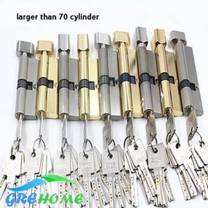 Fechaduras da porta do hardware do núcleo do cobre Cilindros de travamento da segurança mais de 70mm 80mm para a fechadura da porta da espessura de 35-50mm para a casa