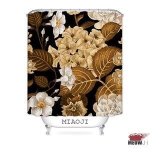 [MIAOJI] Royal Luxury Classic China Flores Vermelhas Impresso Tecido À Prova D 'Água Cortina de Chuveiro Cortinas de Banheiro Cortinas Frete Grátis