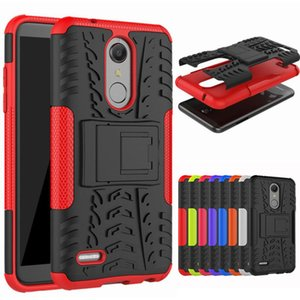 Dual Layer Tire Armor Case With Kickstand Shockproof Case For LG K8 K10 2018 K30 K10 2017 K20 Aristo 2 V20 V30 Stylo 3 LS777 Q6 G7 X Power